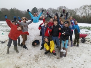 Fun in the Bedales snow
