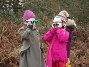 Dunannie students birdwatching