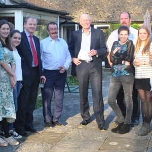 Lord Robert Winston, Bedales Headmaster Keith Budge, staff and students