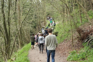 Students enjoy early morning walk to Poet's Stone