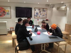Students take part in workshop at Design Museum