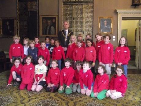 Bedales Pre-prep pupils' meet the Mayor