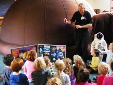 Year One learning about space