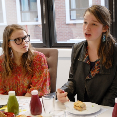 Students discuss feminism at Elle