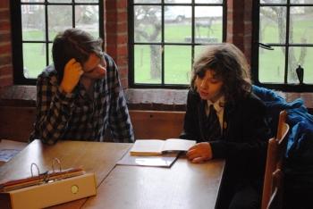 Sixth Form reading mentors at partner school