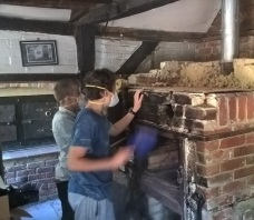 ODW boys dismantle old oven